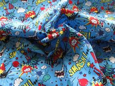 Fabric Godmother - Toon 100% Cotton - Blue, �8.00 (http://www.fabricgodmother.co.uk/toon-100-cotton-blue/)
