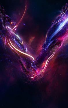 Noxious Cradle on Behance Planets Wallpaper, Wallpaper Space, Galaxy Wallpaper, Hd Cool Wallpapers, Cool Backgrounds, Wallpaper Backgrounds, Fantasy Landscape, Fantasy Art, Space Artwork