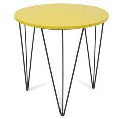 Tavolino da salotto rotondo verde in legno D 40 cm HYDRISS