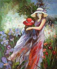 Monet - Kızım ve Ben Orman Gezisi yağlı boya tablo
