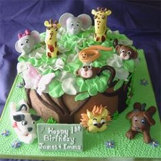 I love this cake for Tristen's 1st birthday