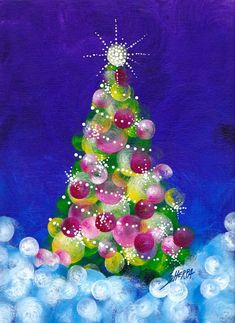 christmas tree art Easy Acrylic Christmas tree painting idea for beginners. Step by step from The Art Sherpa Home to 700 Free art lessons for beginners Easy Canvas Painting, Simple Acrylic Paintings, Easy Paintings, Diy Painting, Acrylic Art, Tree Paintings, Canvas Painting Designs, Acrylic Painting Lessons, Christmas Tree Drawing