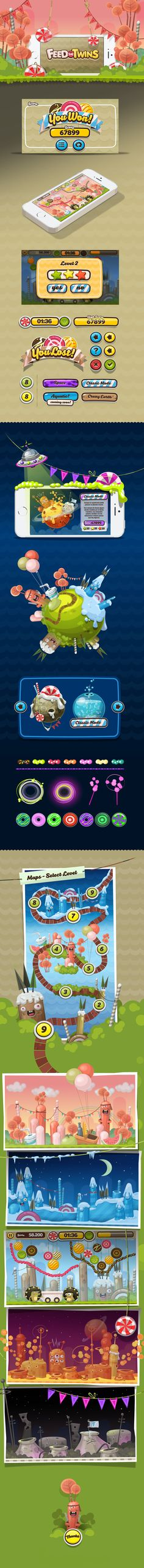 Mobile Game: Full Game Art - Backgrounds- Characters- UI- Logotype