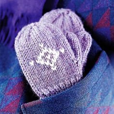 Free pattern for children's knit mittens.