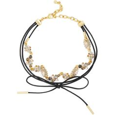 BaubleBar Artemis Choker (€44) ❤ liked on Polyvore featuring jewelry, necklaces, bow jewelry, floral necklace, rock necklace, bow choker necklace and rock jewelry