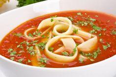 Kaloriefattigt tomatsuppe opskrift til fastedagene på 5:2 Kuren. I Love Food, Good Food, Great Recipes, Healthy Recipes, Healthy Food, Pasta, Beautiful Desserts, Low Sugar, Stevia