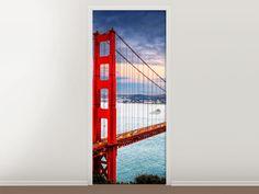 Tür #Tapete Der Golden Gate Bridge bei Sonnenuntergang