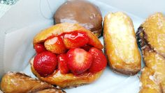 Feast your eyes on the famed strawberry donut at The Donut Man in Glendora via FoodGal