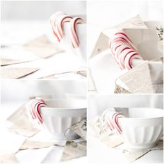 Candy cane and bunting by Beverly Cazzell