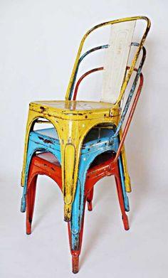 Porque sabemos que os chifla...Recordamos cómo envejecer nuestra #silla Tolix +icónica