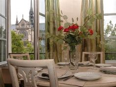 3 Bedroom, 2 Bath Luxury Apartment with Views of Notre Dame