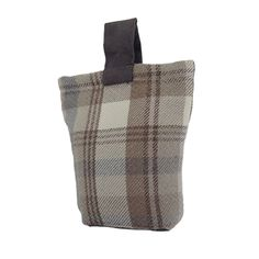 Natural Wool Look Tartan Check Fabric Door Stop - McAlister