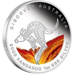 Discover Australia 2009 Dreaming – Kangaroo 1oz Silver Coin   coin , perth mint coins, bullion coins , silver coins