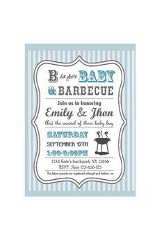 Baby-Q Baby Shower BBQ invitation couples - boy by jonyba on Etsy https://www.etsy.com/listing/100753495/baby-q-baby-shower-bbq-invitation