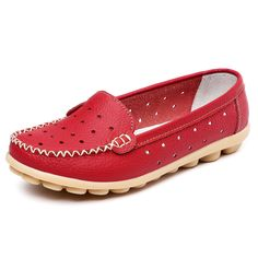Sale 30% (18.24$) - Women Casual  Ballet Flats Soft Bottom Flats Round Toe Breathable Loafers