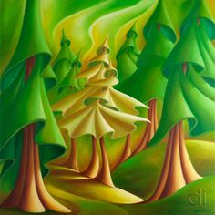 We Dance by Dana Irving Oil on canvas Irving Oil, Oil Painting Texture, Unique Paintings, Canadian Artists, Surreal Art, Tree Art, Watercolor And Ink, Landscape Art, Art Lessons