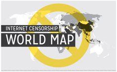 El mapa de la censura de Internet alrededor del mundo