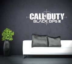 Call of Duty Black Ops 3 Vinyl Transfer Wall by TheStickerStop