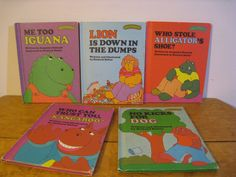 Vintage Sweet Pickles books. Lot of 5 children's picture books beginner readers. Hardcover 1970s. Iguana, Kangaroo, Dog, Lion, Alligator. by PickleladyPapers on Etsy