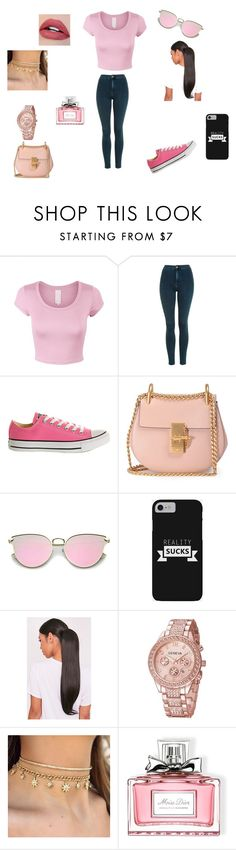 """""""The Yungins!"""" by ivieoww on Polyvore featuring Topshop, Converse, Chloé and Christian Dior"""
