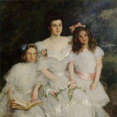William Merritt Chase - Mrs. Gustavas Cook, Lavinia Cook, Nancy Cook