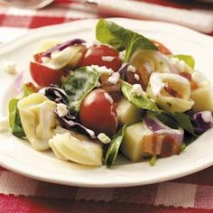 Layered Tortellini Salad Recipe from Taste of Home