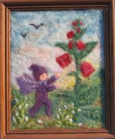 Wool picture: Purple elf