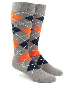 The Tie Bar Tangerine Argyle Socks