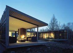 nowoczesny dom w szwecji, parterowy dom, minimalistycz dom