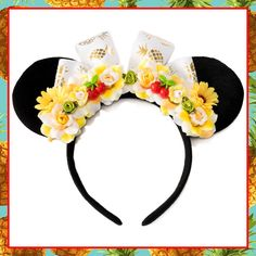 #LUVIT  Pineapple Whip Mouse Ears - for those who LUV eating and Disneybounding as that amazing Disney Dole Whip dessert- NOM NOM!  Available at KittyKatrina.com in our Mouse Ear Headbands Section  #dolewhip #disneydolewhip #mouseears #disneyears #minniemouseears #mickeymouseears #disneygirl #disneyaddict #disneyobsessed #disneyfashion #disneylover #disneystyle #disneybound #disneycostume #disney #disneyland #disneyworld #disneyfan #disneydessert #disneysnacks #disneytreats