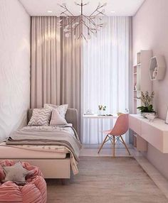 57 Modern Small Bedroom Design Ideas For Home JV-Zimmer Small Apartment Bedrooms, Bedroom Interior, Stylish Bedroom, Small Room Bedroom, Stylish Bedroom Design, Modern Bedroom, Simple Bedroom, Bedroom Colors, Bedroom Layouts