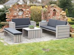 loungem bel gartenm bel set aus wetterfestem holz douglasie patio furniture pinterest. Black Bedroom Furniture Sets. Home Design Ideas