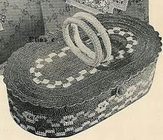 Totally Free Crochet Pattern Blog - Patterns: Free Crocheted Work Basket - Vintage / Antique Pattern from 1940s