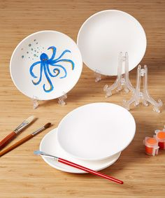 Loving this Color Me Bisque Plate - Set of 12 on #zulily! #zulilyfinds
