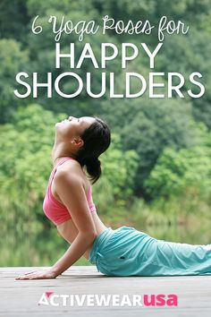 These half-dozen postures help relax tight shoulders, relieve headaches and back pain, and even lift your mood. #yoga #poses #relax