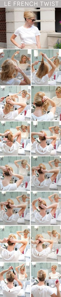 Elegant French Twist Updo Tutorial