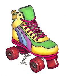 roller skate lapel pin plastic pins vintage gifts roller derby pins strong women teens teenagers i love the fun bright jackets book bag Roller Derby, Roller Skate Cake, Roller Disco, Roller Skating, Black And White Lion, Black And White Frames, Clipart Black And White, Clipart Smiley, Wonder Woman Drawing
