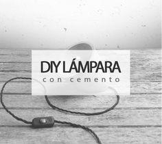 Crea una original lámpara con cemento #diy #ideas #deco