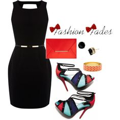 A classic LBD with awesome patterned heels. So effortless and chique!