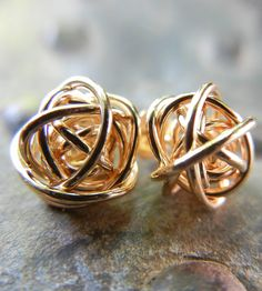Love Knot Stud Earrings by Natasha Grasso on Scoutmob Shoppe