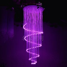 5 color changing fiber optic chandelier