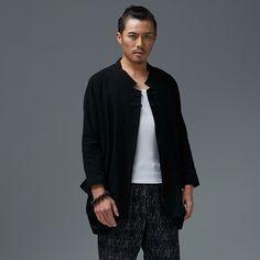 Uomo cinese vestito di linguetta in Uomo cinese vestito di linguetta Lunghezza: 75 cm spalla: 48 cm busto: 110 cm manica: 59 cm  da Parti superiori su AliExpress.com | Gruppo Alibaba
