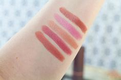 So from top to bottom, the shades I chose, are Suede Splash, Tulip Tide, Nile Nude, Lily Lake, and Blush Basin.