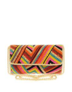 Dune   Dune Lessy Multicolour Bead Clutch Bag at ASOS Beaded Clutch, Beaded  Bags, 81ba760565