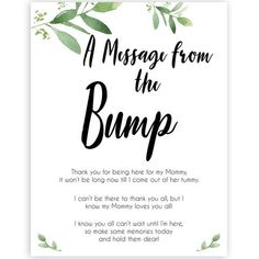 botanical message from bump baby shower sign, printable baby shower games, fun b. - botanical message from bump baby shower sign, printable baby shower games, fun baby shower games - Boho Baby Shower, Baby Shower Box, Baby Shower Messages, Fiesta Baby Shower, Fun Baby Shower Games, Baby Shower Signs, Gender Neutral Baby Shower, Baby Shower Games Printable, Baby Shower Quiz