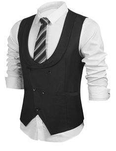 Buy Business Vests Waistcoat Tuxedo - - Black - Shop the latest collection of Men's Sport Coats enjoy big discount and fast shipping. Waistcoat Designs, Waistcoat Men, Mens Suit Vest, Vest Coat, Dress Vest, African Clothing For Men, Mens Clothing Styles, Men's Clothing, Western Outfits