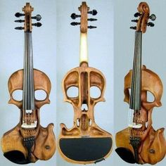 Who would have thought that a violin could look so metal? #skull #violin #unique #instrument #music #InkedMagazine