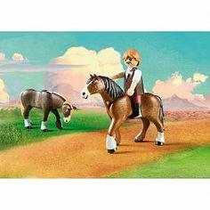Spirit Playmobil 9477 Luckys Dad and Wagon Lucky Pap/á y carruaje,