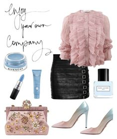 """Is it rude to toss a xanax in someone's mouth while they're talking?"" by thefashionmess ❤ liked on Polyvore featuring Gucci, Prada, Givenchy, Dolce&Gabbana, Marc Jacobs, Thalgo and MAC Cosmetics"
