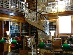 This is the library inside the Iowa capitol building.